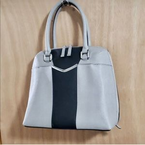 Calvin Klein Gray Black Satchel EUC